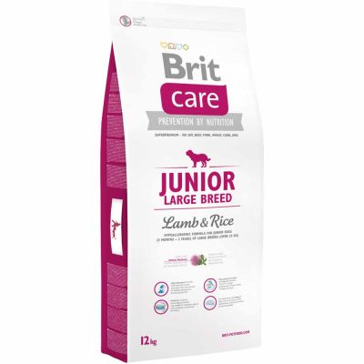 Brit Care - Brit Care Junior Large Breed Lamb & Rice Kuzu Etli Yavru Köpek Maması 12 Kg