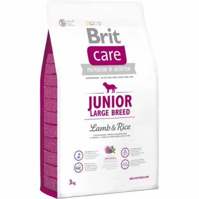 Brit Care - Brit Care Junior Large Breed Lamb & Rice Kuzu Etli Yavru Köpek Maması 3 Kg