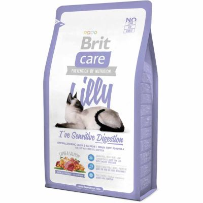 Brit Care - Brit Care Lilly Sensitive Digestion Kuzulu Ve Somonlu Tahılsız Kedi Maması 2 Kg