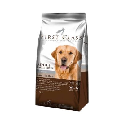 First Class - First Class Adult Large Breed Lamb & Rice Kuzu Etli Büyük Irk Köpek Maması 12 kg