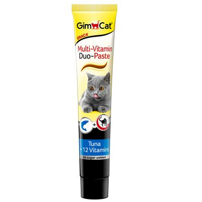 Gimcat - Gimcat Multi-Vitamin Duo Paste Tuna & 12 Vitamin 50 Gr