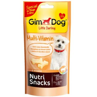 Gimdog - Gimdog Little Darling NutriSnacks Multivitaminli Köpek Ödülü 40 gr