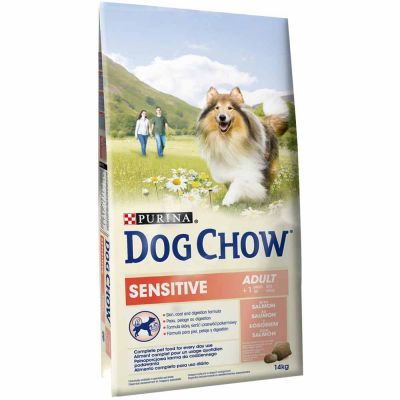 Purina Dog Chow - Purina Dog Chow Adult Sensitive Somonlu Köpek Maması 14 Kg