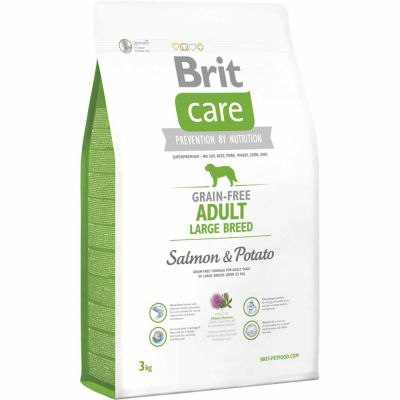 Brit Care - Brit Care Adult Large Breed Somon Ve Patatesli Tahılsız Köpek Maması 3 Kg