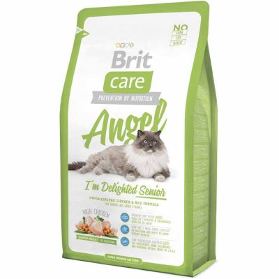 Brit Care - Brit Care Cat Angel I'm Delighted Senior Tavuklu Yaşlı Kedi Maması 2 Kg