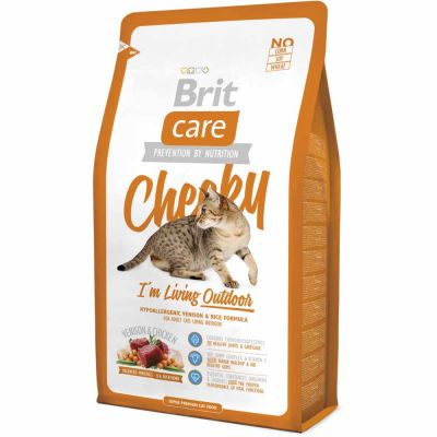 Brit Care - Brit Care Cheeky I'm Living Outdoor Geyik Etli Kedi Maması 2 Kg