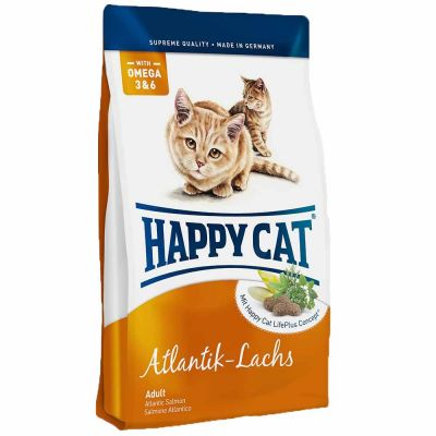 Happy Cat - Happy Cat Atlantic LAchs Somonlu Yetişkin Kedi Maması 10 kg