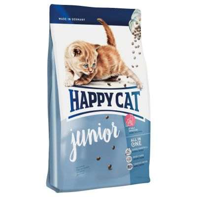 Happy Cat - Happy Cat Junior Tavuk ve Somonlu Yavru Kedi Maması 10 kg
