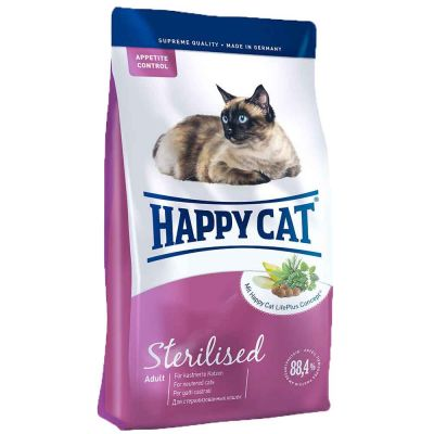 Happy Cat - Happy Cat Sterilised Tavuklu ve Somonlu Kısır Kedi Maması 10 kg