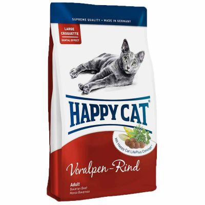 Happy Cat - Happy Cat Voralpen Rind Biftekli Yetişkin Kedi Maması 4 kg