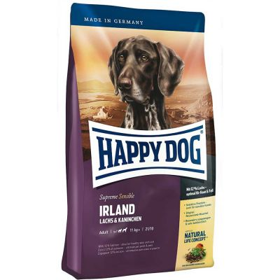 Happy Dog - Happy Dog Ireland Somonlu ve Tavşanlı Köpek Maması 12.5 kg