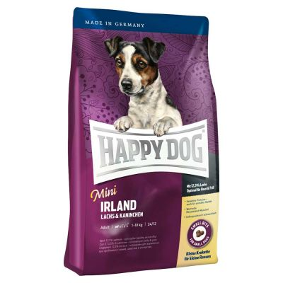 Happy Dog - Happy Dog Sensible Mini Irland Somon & Tavşanlı Küçük Irk Köpek Maması 4 kg