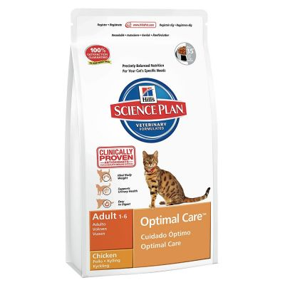 Hills Science Plan - Hills Adult Optimal Care Tavuklu Yetişkin Kedi Maması 15 Kg