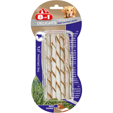 8in1 - 8 in1 Delights Beef Twisted Sticks 55 Gr