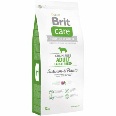Brit Care - Brit Care Adult Large Breed Somon Ve Patatesli Tahılsız Köpek Maması 12 Kg