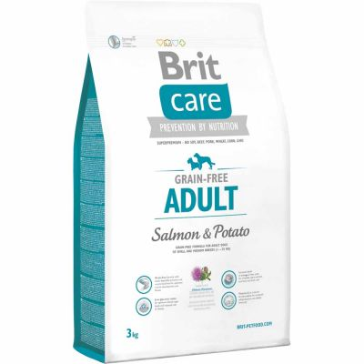 Brit Care - Brit Care Adult All Breed Somonlu Ve Patatesli Tahılsız Köpek Maması 3 Kg