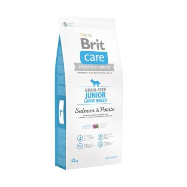 Brit Care - Brit Care Junior Large Breed Somonlu Patatesli Tahılsız Köpek Maması 12 Kg