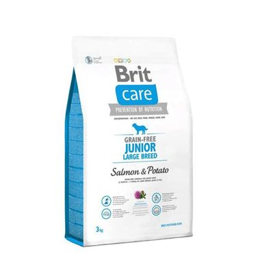 Brit Care - Brit Care Junior Large Breed Somonlu Patatesli Tahılsız Köpek Maması 3 Kg