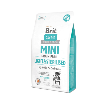 Brit Care - Brit Care Mini Light & Sterilised Tavşan etli ve Somonlu 2 Kg