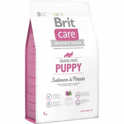 Brit Care - Brit Care Puppy All Breed Somon Ve Patatesli Tahılsız Köpek Maması 3 Kg